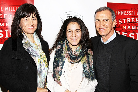 A Streetcar Named Desire opening night – Tony Plana and family