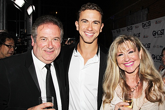 Ghost Opening Night – Richard Fleeshman and parents