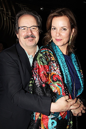 The Columnist Opening Night  Margaret Colin  John Pankow 