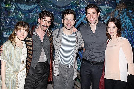 Blunt Krasinski at Starcatcher – Celia Keenan-Bolger – Christian Borle – Adam Chanler-Berat – John Krasinski – Emily Blunt