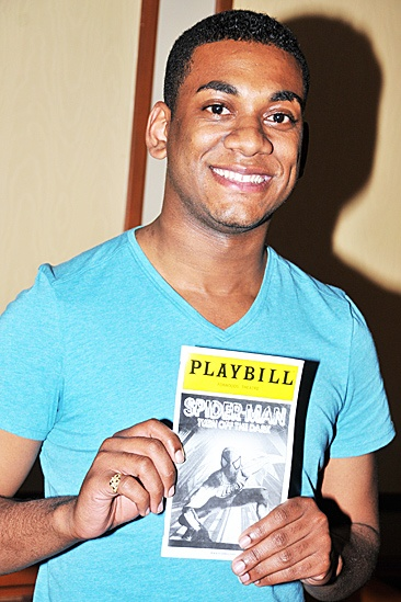 Joshua Ledet Visits Spider-Man  Joshua Ledet