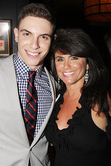 Dogfight Opening Night  Derek Klena and his mom 