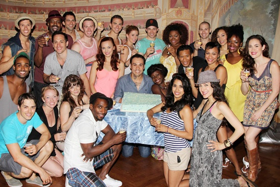 Ghost Celebrates 100 Broadway Shows – the cast of Ghost