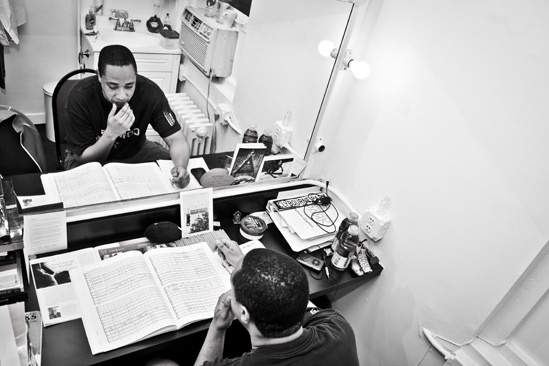 Backstage at Clybourne Park  Damon Gupton