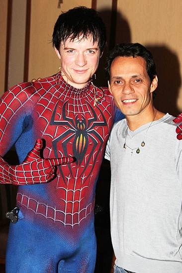 Spider-Man Turn Off The Dark – Marc Anthony Visit – Matthew James Thomas – Marc Anthony