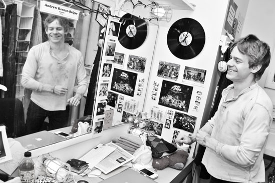 Newsies –Backstage-Andrew Keenan-Bolger