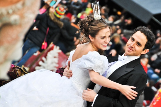 Cinderella at Macy's Parade - Laura Osnes- Santino Fontana