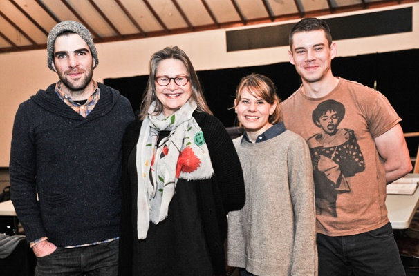 'The Glass Menagerie' Rehearsal — Zachary Quinto — Cherry Jones — Celia Keenan-Bolger — Brian J. Smith