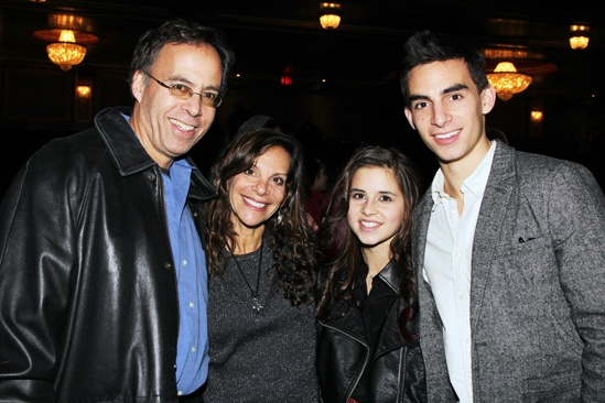 Carly Rose Sonenclar visits &#39;Spider-Man&#39; - Bob Sonenclar - Terri Sonenclar - Carly Rose Sonenclar - Russell Sonenclar 