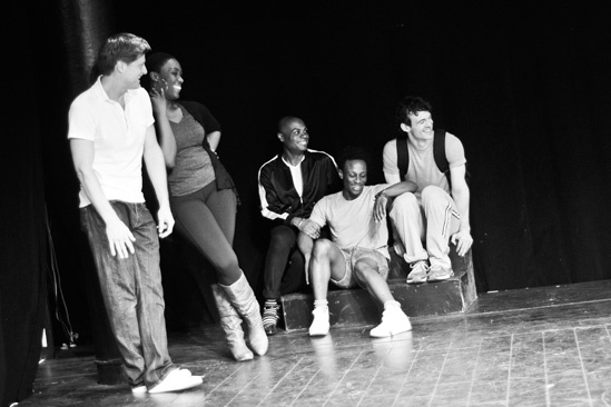 Hit the Wall Rehearsal- Sean Allan Krill,-Carolyn Michelle Smith- Nathan Lee Graham-Gregory Haney-Ben Diskant
