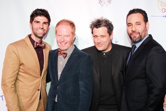 Tie The Knot  Press Event  Justin Mikita  Jesse Tyler Ferguson  Issac Mizrahi  Arnold Germer 