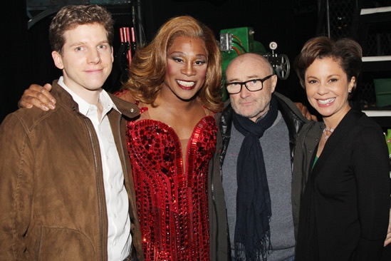 Phil Collins at 'Kinky Boots' — Stark Sands — Billy Porter — Phil Collins — Dana Tyler