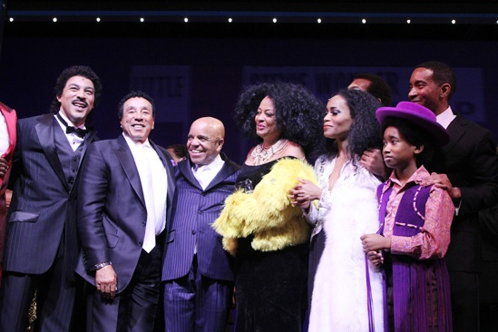 'Motown' Opening Night — Charl Brown — Smokey Robinson — Berry Gordy — Diana Ross — Valisia LeKae — Raymond Luke Jr.