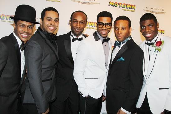 'Motown' Opening Night — Ephraim Sykes — Jesse Nager — Donald Webber Jr. — Julius Thomas III — Maurice Murphy — Jawan M. Jackson