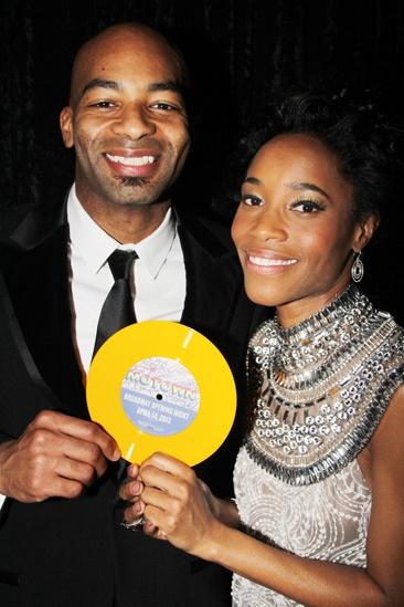 'Motown' Opening Night — Brandon Victor Dixon — Valisia LeKae