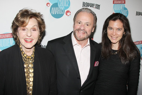2013 Audience Choice Awards- Fran and Barry Weissler- Diane Paulus