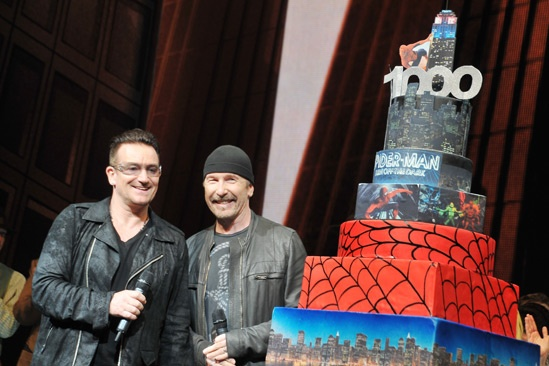 Spider-Man - 1000th Performance - Bono - The Edge
