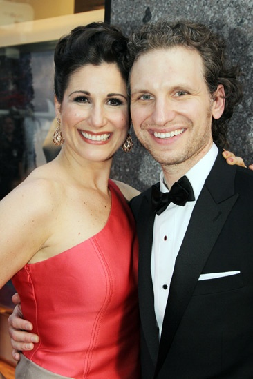 Tony Red Carpet- Stephanie J. Block- Sebastian Arcelus