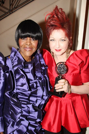 2013 Tony Awards Winner's Circle – Cicely Tyson – Cyndi Lauper