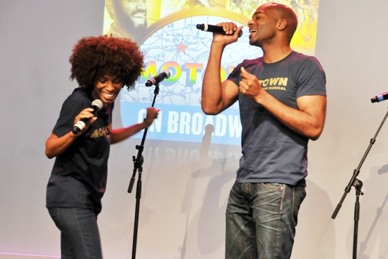 'Motown' at SoHo Apple Store— Valisia LeKae — Brandon Victor Dixon