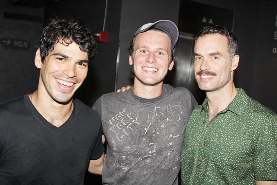 Jonathan Groff at Peter and the Starcatcher - Raul Castillo - Jonathan Groff - Murray Bartlett