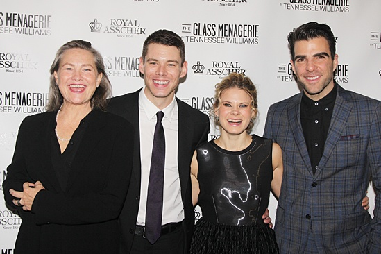 'The Glass Menagerie' Opening — Cherry Jones — Brian J. Smith — Celia Keenan-Bolger — Zachary Quinto