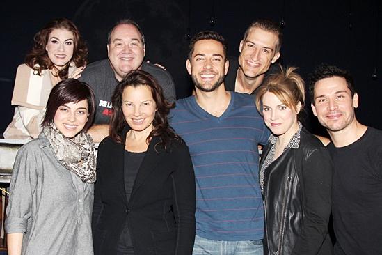 Fran Drescher at 'First Date' — Kate Loprest — Krysta Rodriguez — Blake Hammond — Fran Drescher — Zachary Levi — Bryce Ryness — Sara Chase — Kristoffer Cusick