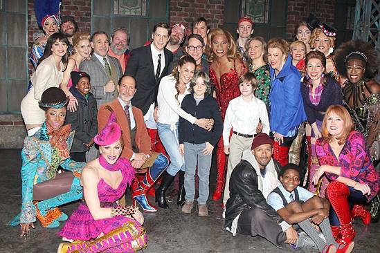 Kinky Boots - Sarah Jessica Parker visits - OP - cast