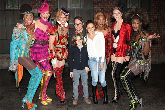 Kinky Boots - Sarah Jessica Parker visits - OP - Matthew Broderick - Sarah Jessica Parker - James Wilkie Broderick