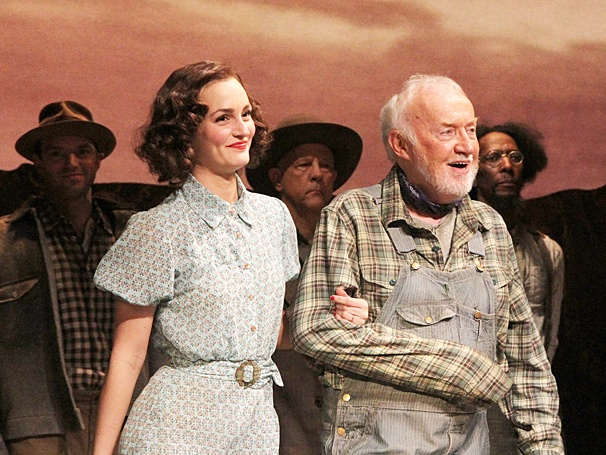 Of Mice and Men - Preview Curtain Call - OP - 3/14 - Leighton Meester - Jim Norton