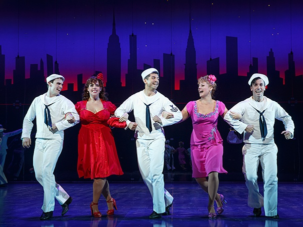 On the Town - Show PHotos - 10/14 - Jay Armstrong Johnson - Alysha Umphress - Tony Yazbeck - Elizabeth Stanley - Clyde Alves