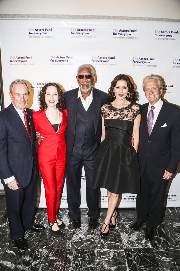 Broadway.com | Photo 1 of 17 | Photos! Morgan Freeman, Catherine Zeta-Jones & More Stars Align at 2015 Actors Fund Gala
