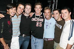 Photo Op - Altar Boyz 1000th Performance - Jay Garcia - Carlos Encinias - Matthew Buckner - Landon Beard - Ryan Ratliff - Ryan Strand - Jim Daly