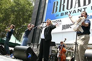 Photo Op - Broadway in Bryant Park 07-26-07 - Jason Danieley - Karen Kiemba - Debra Monk - Michael McCormick