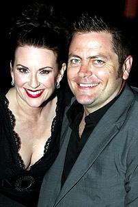 Photo Op - Young Frankenstein opens in Seattle - Megan Mullally - Nick Offerman