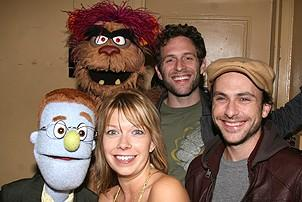 Photo Op - It's Always Sunny in Philadelphia at Avenue Q - Rob - Trekkie Monster - Mary Elizabeth Ellis - Glenn Howerton - Charlie Day