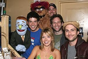 Photo Op - It's Always Sunny in Philadelphia at Avenue Q - Howie Michael Smith - Trekkie Monster - David Benoit - Mary Elizabeth Ellis - Trekkie Monster -  Glenn Howerton - Charlie Day
