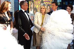 George Hamilton on GMA - Emily Fletcher - George Hamilton - Diane Sawyer - Chris Cuomo - Melissa Rae Mahon
