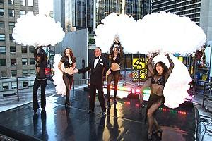 George Hamilton on GMA - stage1