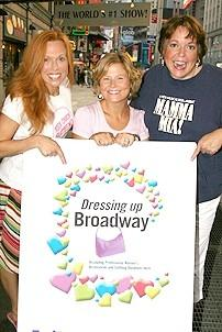 Photo Op - Mamma Mia! Fed Ex Event - Carolee Carmello - Carey Anderson - Gina Ferrall