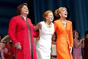 Photo Op - Mamma Mia! Fed Ex Event - cc - Gina Ferrall - Carolee Carmello - Judy McLane