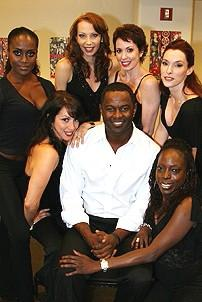 Photo Op - Brian McKnight in Chicago press event - Brian McKnight - Donna Marie Asbury - Solange Sandy - Michelle Potterf - Melissa Rae Mahon - Emily Fletcher - Michelle M. Robinson