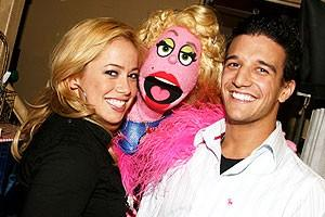 Photo Op - Sabrina Bryan at Avenue Q - Sabrina Bryan - Lucy the Slut - Mark Ballas