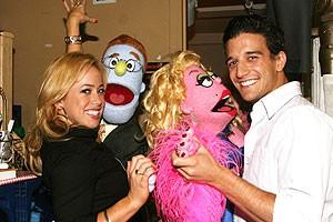 Photo Op - Sabrina Bryan at Avenue Q - Sabrina Bryan - Rod - Lucy the Slut - Mark Ballas