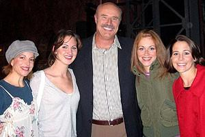 Photo Op - Dr. Phil at Jersey Boys - Jennifer Naimo - Heather Ferguson - Dr. Phil McGraw - Erica Piccininni - Sara Schmidt