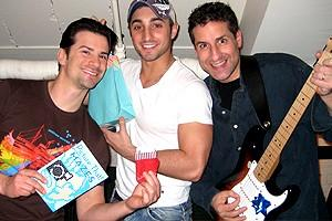 Photo Op - Holidays at Jersey Boys - Dominic Nolfi - Eric Schneider - John Leone