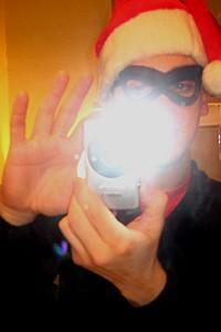 Photo Op - Holidays at Jersey Boys - secret santa flash