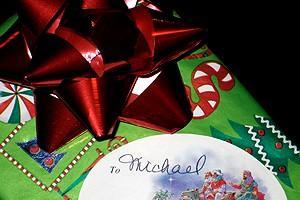 Photo Op - Holidays at Jersey Boys - Michael Longoria's gift