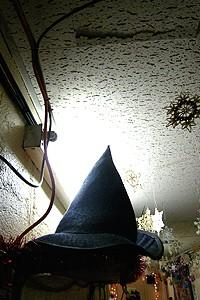 Holidays at Wicked 2007 - decorations with witch hat