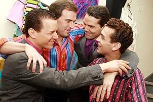 Daniel Reichard's final performance in Jersey Boys - Christian Hoff - Daniel Reichard - J. Robert Spencer - Michael Longoria - 2
